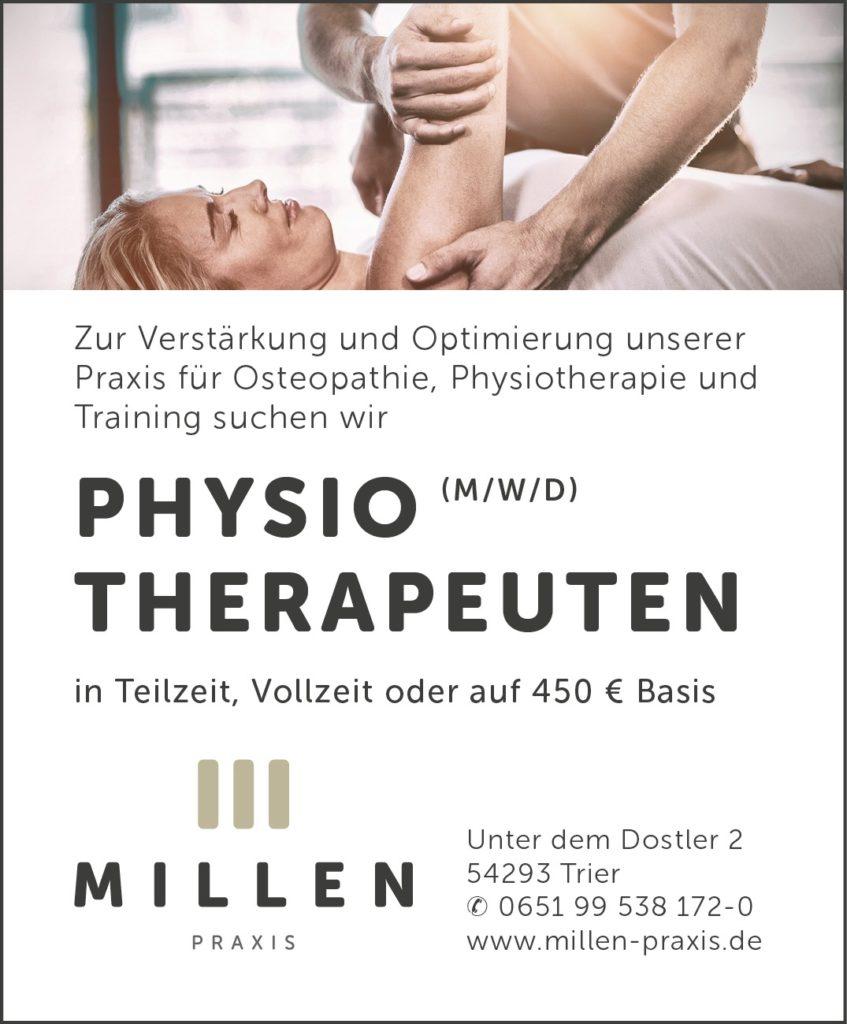 Stellenanzeige-Physiotherapie-Trier